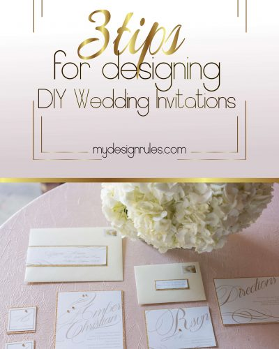 Three things you need to begin designing amazing wedding stationery.