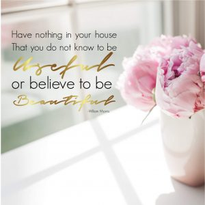 Have nothing in our home that you do not know to be useful or believe to be beautiful Free Printable