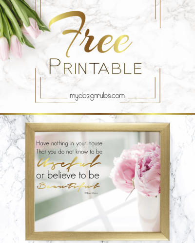 Spruce Up Your Space with a  Peony Free Printable
