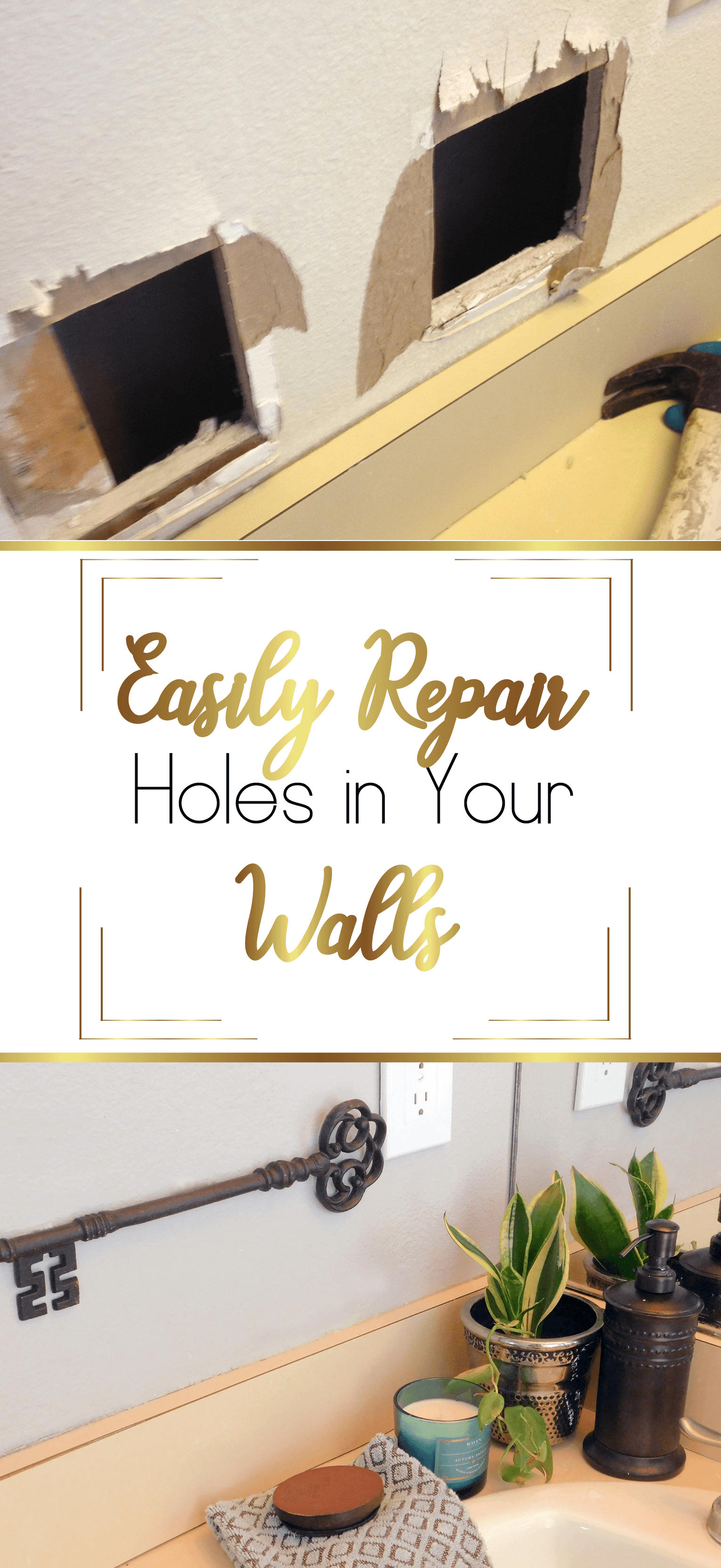 Easily repair Wall Holes with these quick fixes.