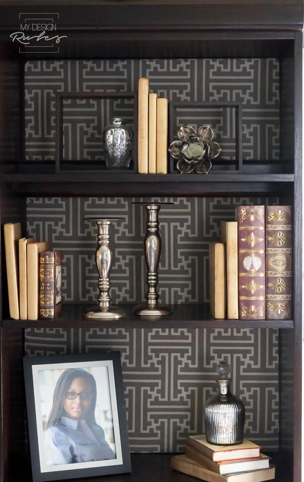 Java Gel Stain Bookcase fabric