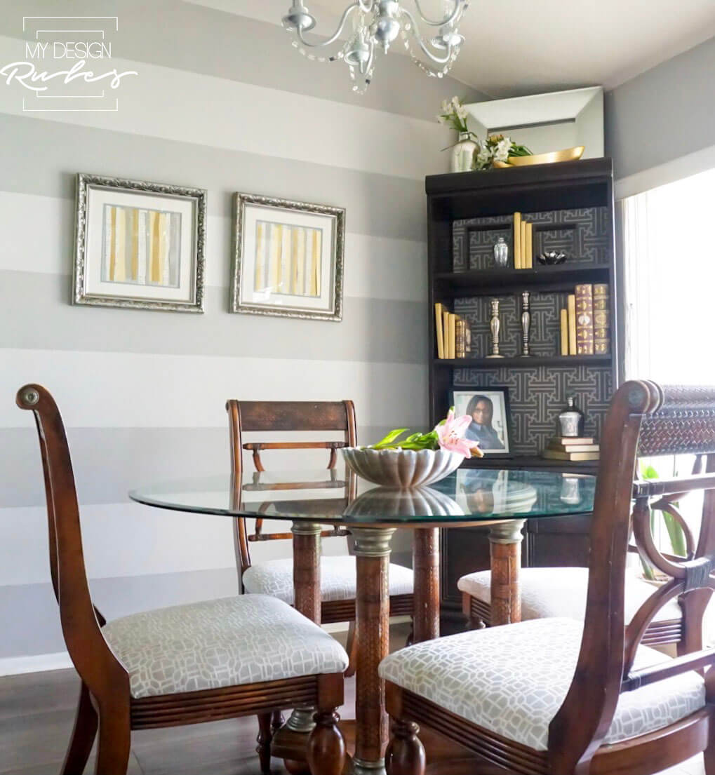 You can give your dining room a makeover on a budget. Put together a fabulous room with a little sweat equity and a very little cash.