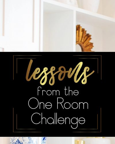 lessons from the one room challenge pinterest image bookcase