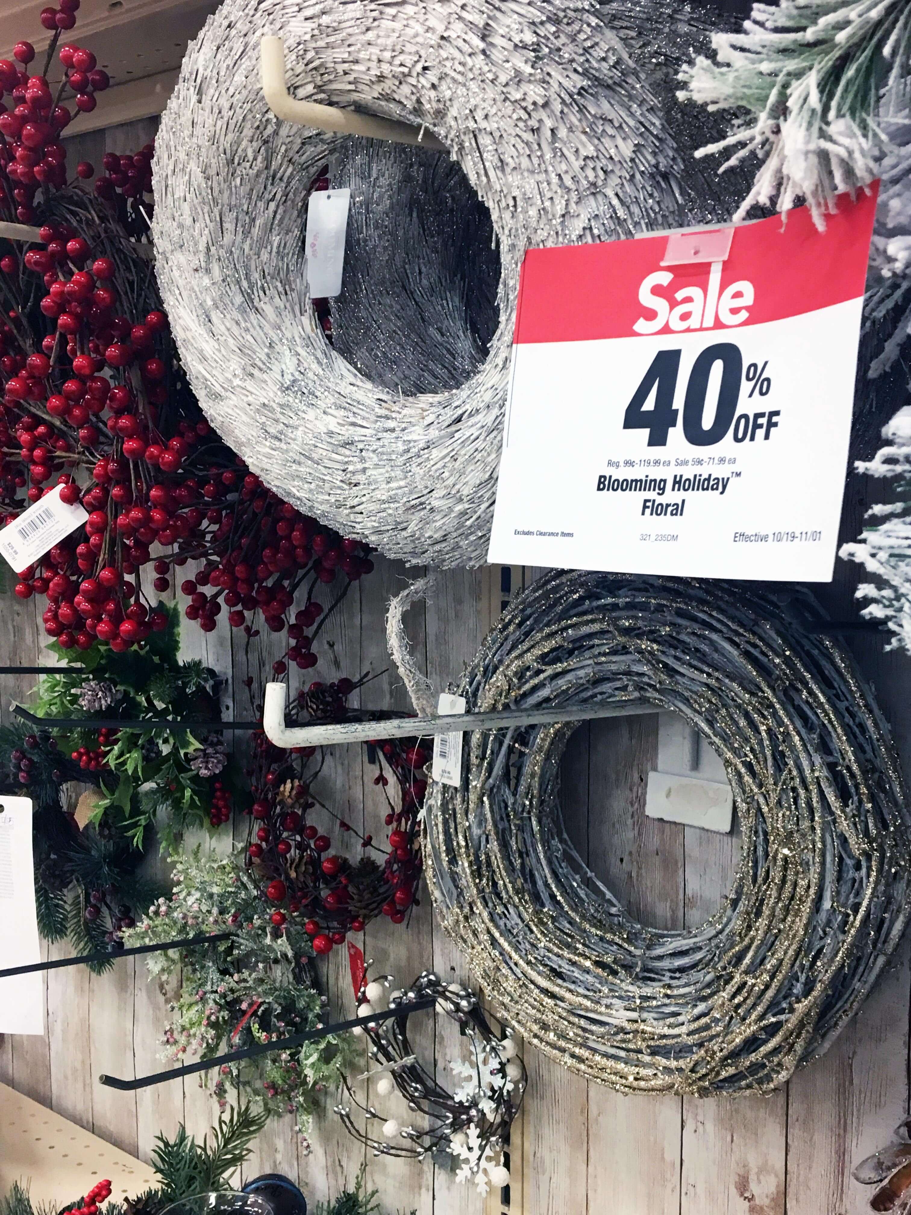 Never pay full price for seasonal decor at Joann Fabric and Crafts. Wait for a sale and coupon stack or clearance.
