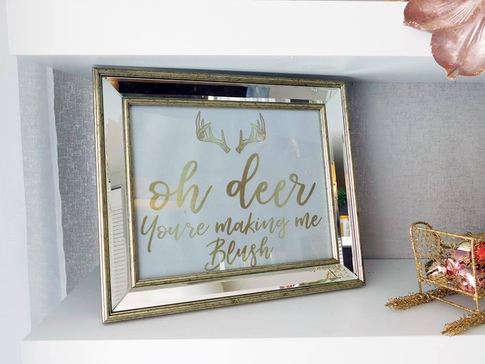 Oh Deer You're making me blush free printable sign #freechristmasprintable
