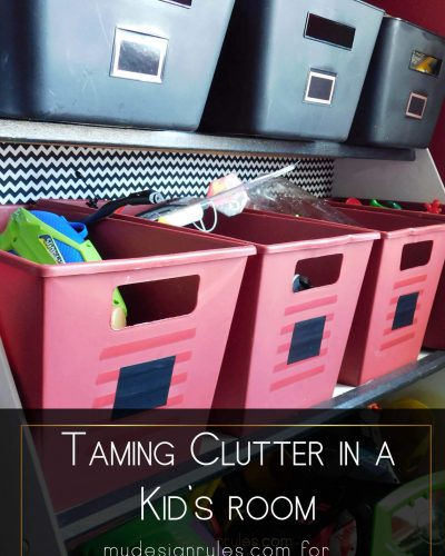 Taming the Clutter in a Kid's Space