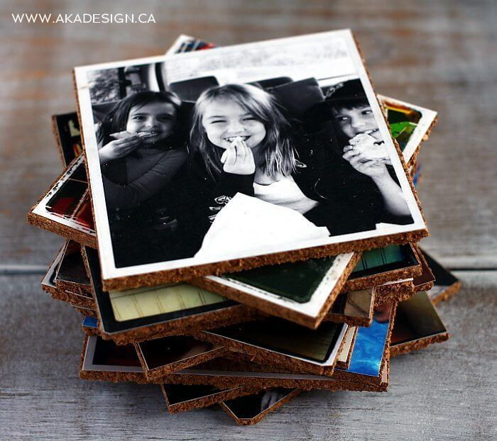 DIY Photo coasters for mothers day