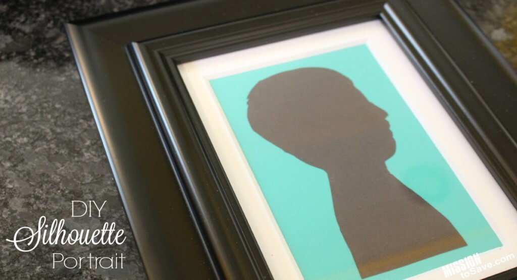 Silhouette-Frame-DIy Gift idea for mother's day
