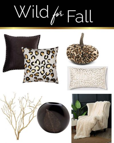 Black white fall decor ideas. with Leopard print