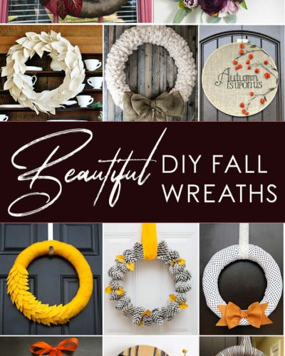 11 Fall Wreath Tutorial and Round Up