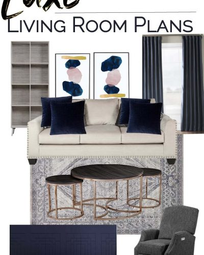 Luxe Living Room on a Budget Design Board